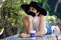 <p>Selma Blair is deep in thought on Saturday while out for coffee in West Hollywood.</p>