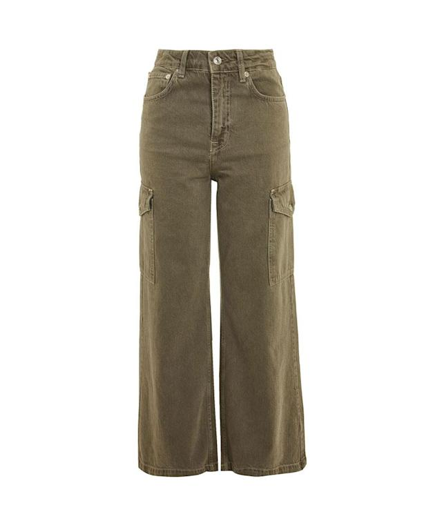 """<p>Moto Cargo Wide Leg Cropped Jeans, $75, <a href=""""http://us.topshop.com/webapp/wcs/stores/servlet/ProductDisplay?searchTermScope=3&searchType=ALL&viewAllFlag=false&CE3_ENDECA_PRODUCT_ROLLUP_ENABLED=N&catalogId=33060&productOnlyCount=1&sort_field=Relevance&storeId=13052&qubitRefinements=siteId%3DTopShopUS&langId=-1&beginIndex=1&productId=29965549&pageSize=20&defaultGridLayout=3&searchTerm=TS02C03MKHA&productIdentifierproduct=product&DM_PersistentCookieCreated=true&searchTermOperator=LIKE&x=25&geoip=search&y=11"""" rel=""""nofollow noopener"""" target=""""_blank"""" data-ylk=""""slk:topshop.com"""" class=""""link rapid-noclick-resp"""">topshop.com</a> </p>"""