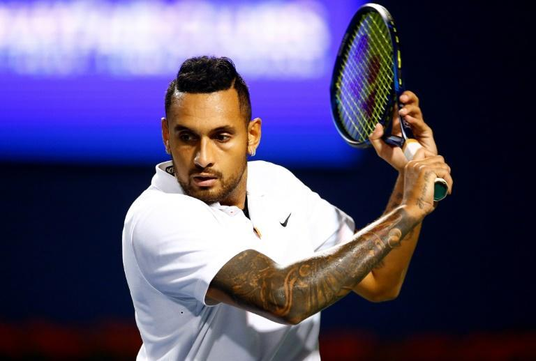 Aussie Nick Kyrgios pulled out of his scheduled first round match with former world number one Andy Murray at the Winston-Salem Open with a knee injury