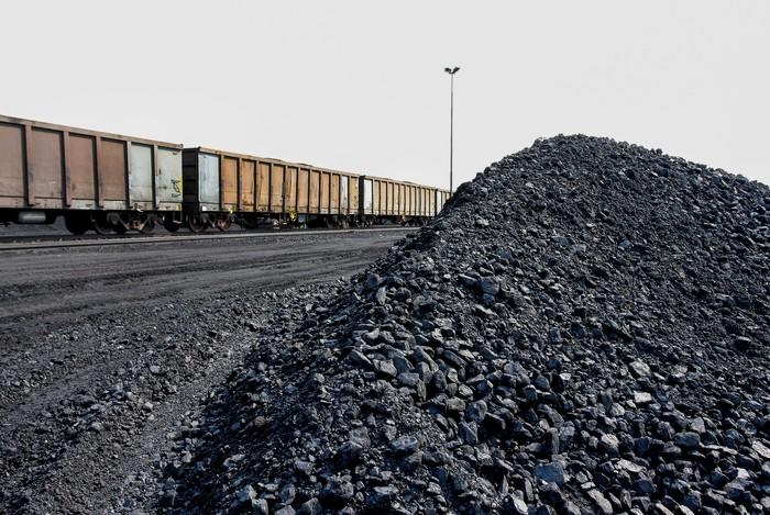 A train transporting coal.