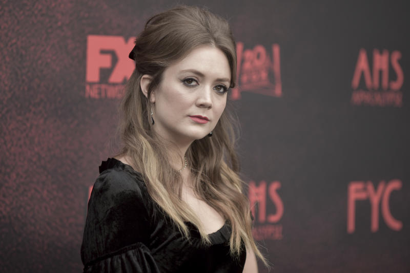 "Billie Lourd attends ""American Horror Story: Apocalypse"" FYC event at NeueHouse Hollywood on Saturday, May 18, 2019, in Los Angeles. (Photo by Richard Shotwell/Invision/AP)"