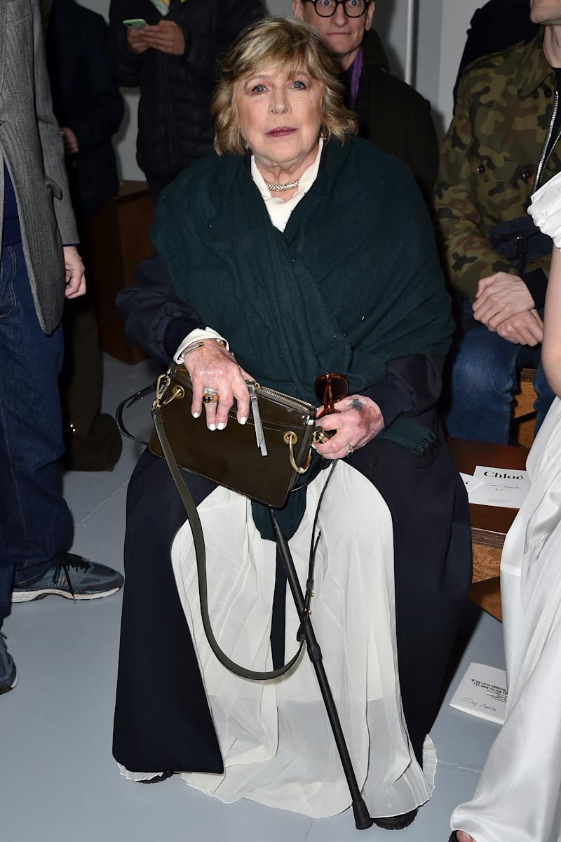Marianne Faithfull attends the Chloe show as part of the Paris Fashion Week Womenswear Fall/Winter 2020/2021 on February 27, 2020 in Paris, France.