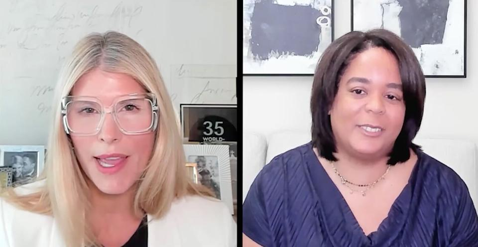 Shannon Schulyer and Sheri Wyatt of PwC talk about inclusion in the workplace during the 2021 MAKERS Conference. (Photo: PricewaterhouseCoopers)