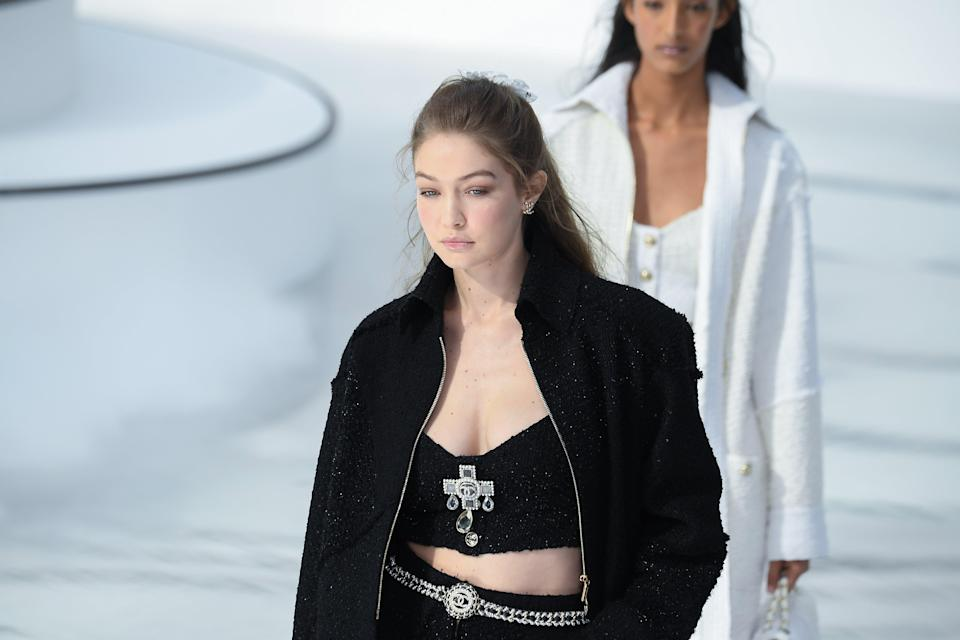 File image:  Gigi Hadid walks the runway during the Chanel as part of the Paris Fashion Week Womenswear Fall/Winter 2020/2021  (Getty Images)