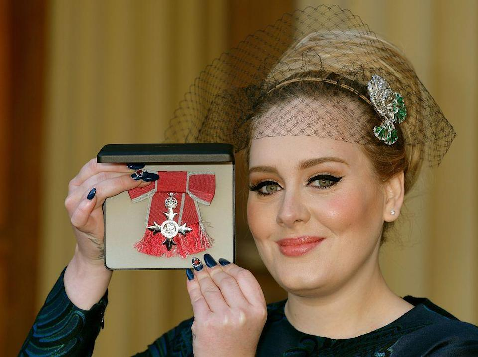 <p>Prince Charles appointed Adele a Member of the Order of the British Empire (MBE) for services to music back in 2013.</p>