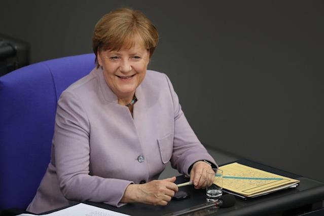 <p>No. 9: Angela Merkel, Chancellor of Germany<br>Salary: $235,041 (216,278 euros)<br>(Getty Images) </p>