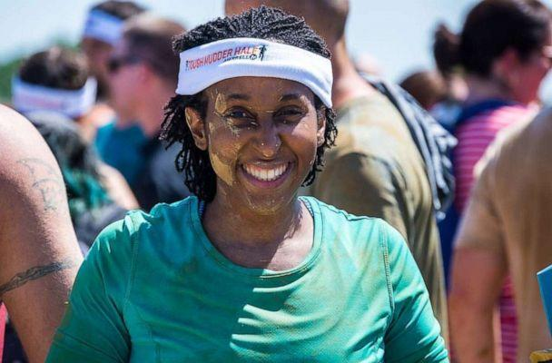 PHOTO: Jordanne Wells smiles after competing in a Tough Mudder race in Kentucky in 2017. (Cedric Wells)