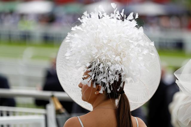 Horse Racing - Derby Festival - Epsom Downs Racecourse, Epsom, Britain - June 1, 2018 A racegoer during Ladies Day REUTERS/Peter Nicholls