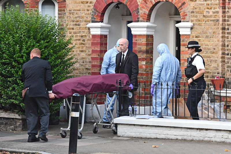 File photo dated 15/8/2018 of the body of Simonne Kerr is removed from her home in Battersea, south-west London. Former soldier Desmond Sylva has admitted at the Old Bailey of killing the nurse who performed on Britain's Got Talent in an NHS choir.