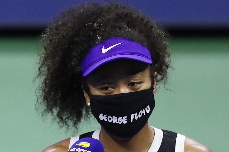 Naomi Osaka in George Floyd mask