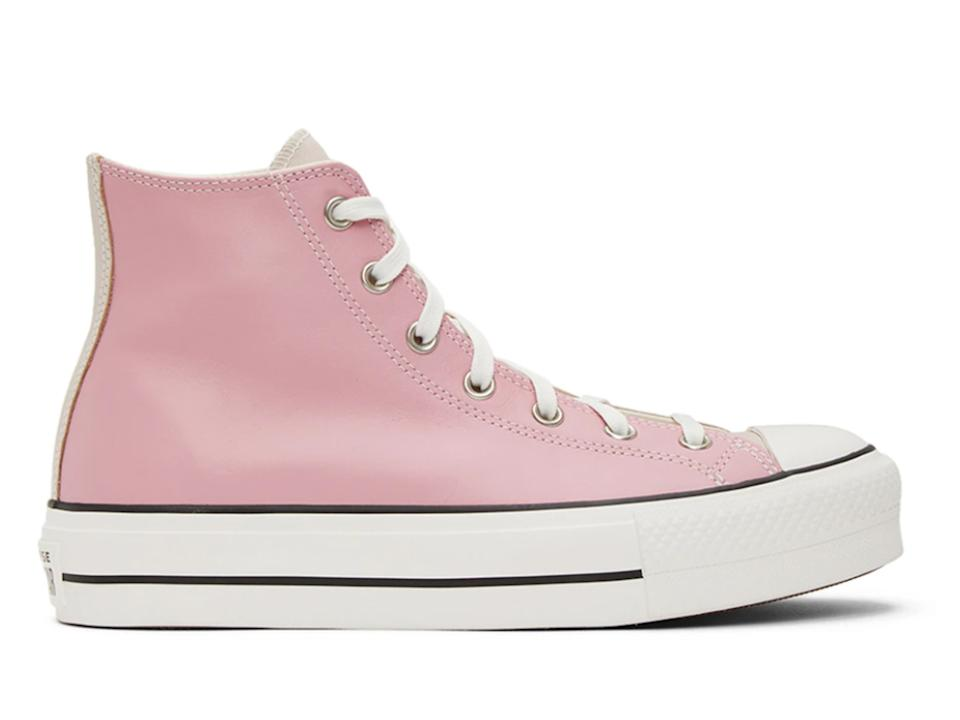 CONVERSE Pink & Beige Chuck Taylor All Star Lift Sneakers