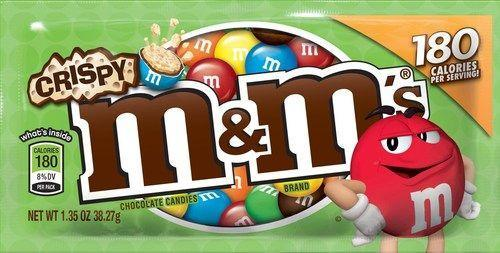 <p>Crispy M&Ms made a triumphant return in late 2014, making them a super-popular candy to munch on at the movies the following year. They have it all: crunch, chocolate, and candy coating. What could be better? </p>