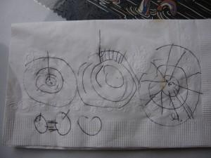 Scribbles on a napkin