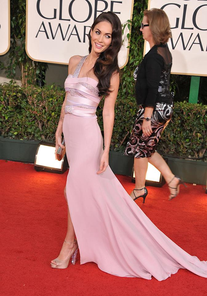 Megan Fox arrives at the 68th Annual Golden Globe Awards held at The Beverly Hilton hotel on January 16, 2011 in Beverly Hills, California.