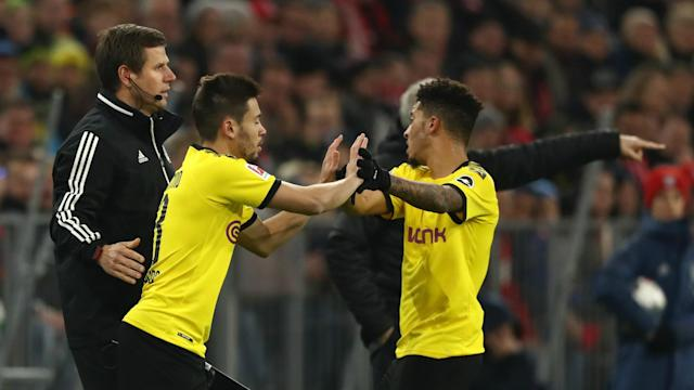 Lucien Favre has confirmed Jadon Sancho's early exit during Borussia Dortmund's 4-0 loss to Bayern Munich was not down to an injury concern.