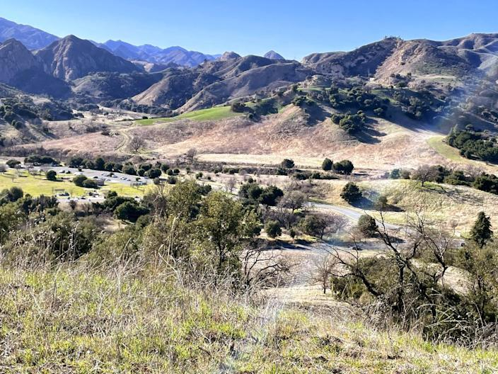 A photo of the view of the Santa Monica Mountains from Inspiration Point in Calabasas.
