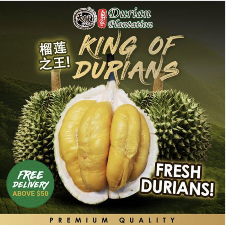 PHOTO: Shopee. [Durian Plantation] Fresh Durian 400g/1kg Delivery