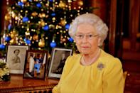 <p>For her annual Christmas address in 2013, Queen Elizabeth wore a symbolic brooch—the diamond, sapphire, and ruby encrusted jewel was a gift from her parents to celebrate the birth of Prince Charles in 1948. </p>