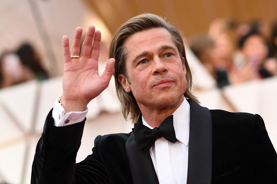 US actor Brad Pitt arrives for the 92nd Oscars at the Dolby Theatre in Hollywood, California on February 9, 2020. (Photo by VALERIE MACON / AFP) (Photo by VALERIE MACON/AFP via Getty Images)