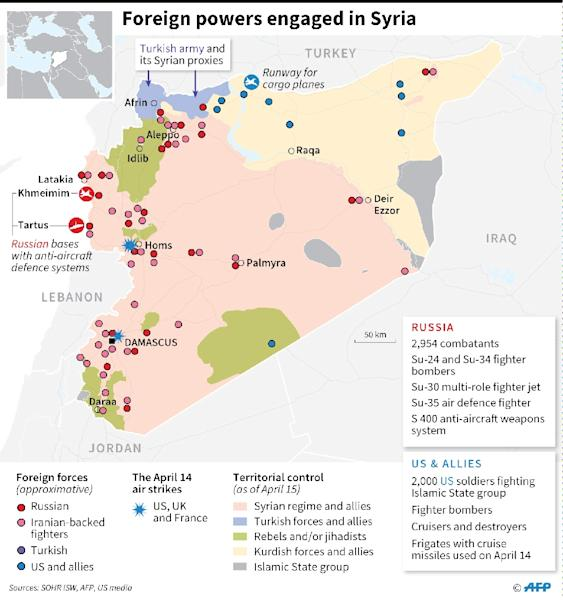Foreign fighting forces engaged in Syria (AFP Photo/)