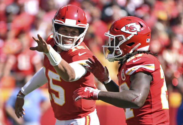 Everyone seems to get open for Chiefs quarterback Patrick Mahomes this season. (AP)