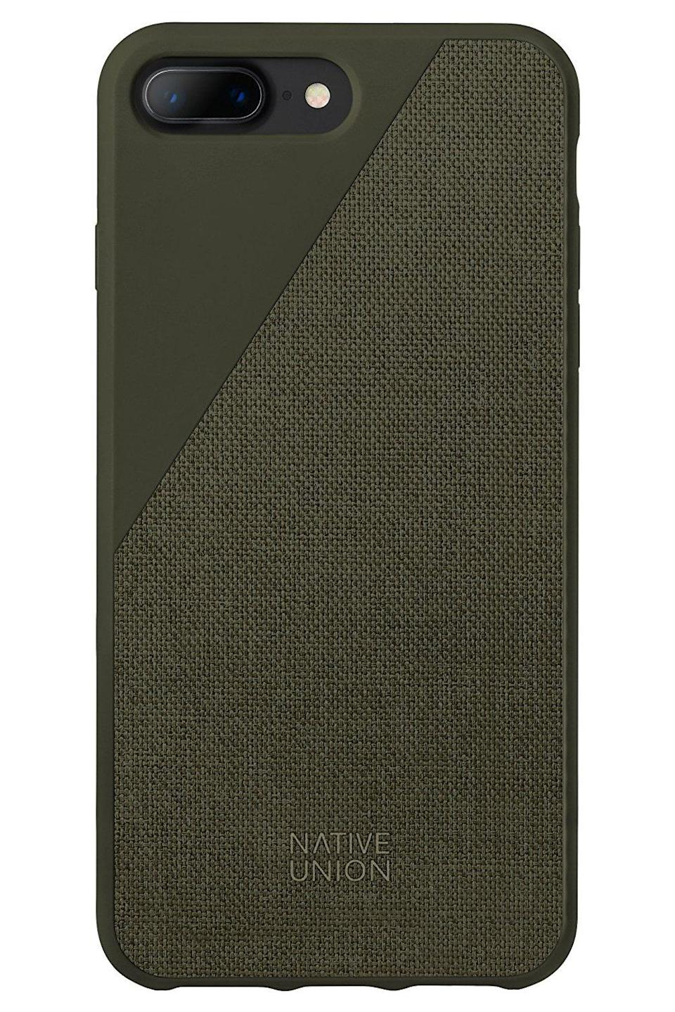 "<p>If you're looking for the highest-quality case with more of a unique look and feel, the <a href=""https://www.popsugar.com/buy/Native-Union-CLIC-Canvas-120857?p_name=Native%20Union%20CLIC%20Canvas&retailer=amazon.com&evar1=news%3Aus&evar9=44473996&evar98=https%3A%2F%2Fwww.popsugar.com%2Fnews%2Fphoto-gallery%2F44473996%2Fimage%2F44711787%2FNative-Union-CLIC-Canvas&prop13=desktop&pdata=1"" rel=""nofollow noopener"" target=""_blank"" data-ylk=""slk:Native Union CLIC Canvas"" class=""link rapid-noclick-resp"">Native Union CLIC Canvas</a> ($39) is unquestionably the case for you. Say goodbye to all that plastic and silicone and embrace the canvas! </p>"