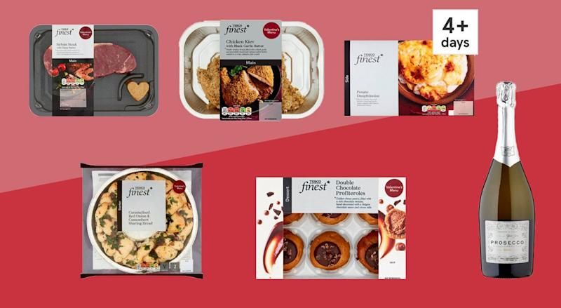 Tesco Valentine's Day Dine In Meal (Photo: HuffPost UK)