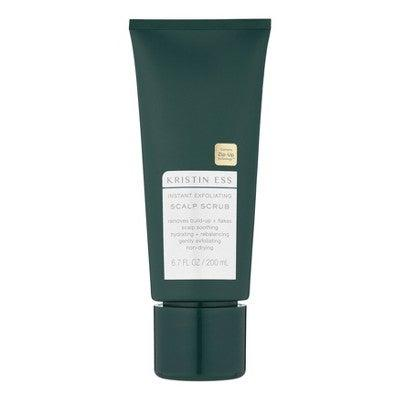 """<h3><a href=""""https://www.target.com/p/kristin-ess-instant-exfoliating-scalp-scrub-6-7-fl-oz/-/A-75565160"""" rel=""""nofollow noopener"""" target=""""_blank"""" data-ylk=""""slk:Kristin Ess Instant Exfoliating Scalp Scrub"""" class=""""link rapid-noclick-resp"""">Kristin Ess Instant Exfoliating Scalp Scrub</a></h3><br>Scrubs can be harsh if you overdo it, so look for a gentle formula that will removes flakes and product build-up without stripping the skin. This affordable option is made with sugar crystals, which are kinder on your scalp than salt-based products. <br><br><strong>Kristin Ess</strong> Instant Exfoliating Scalp Scrub, $, available at <a href=""""https://go.skimresources.com/?id=30283X879131&url=https%3A%2F%2Fwww.target.com%2Fp%2Fkristin-ess-instant-exfoliating-scalp-scrub-6-7-fl-oz%2F-%2FA-75565160"""" rel=""""nofollow noopener"""" target=""""_blank"""" data-ylk=""""slk:Target"""" class=""""link rapid-noclick-resp"""">Target</a>"""