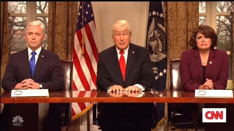 Baldwin's Trump Boasts On 'SNL' He's Running Country Like A Waffle House