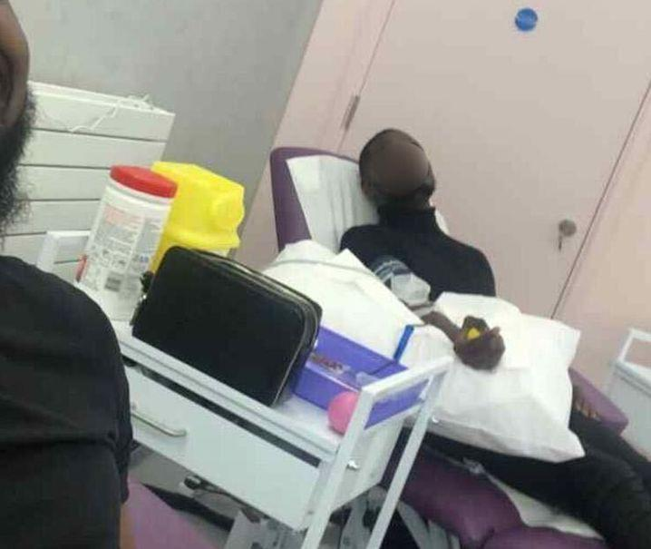 <strong>An alleged SPAC Nation pastor giving blood.</strong> (Photo: Tkay Mukuna)