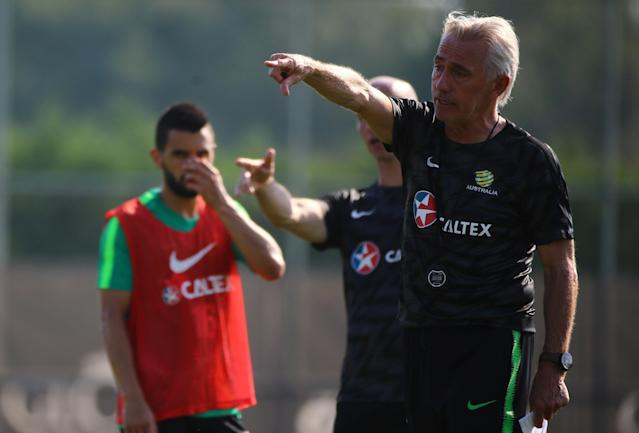 Soccer Football - FIFA World Cup - Australia Training - Antalya, Turkey - June 3, 2018 Australia coach Bert van Marwijk during a training REUTERS/Kaan Soyturk