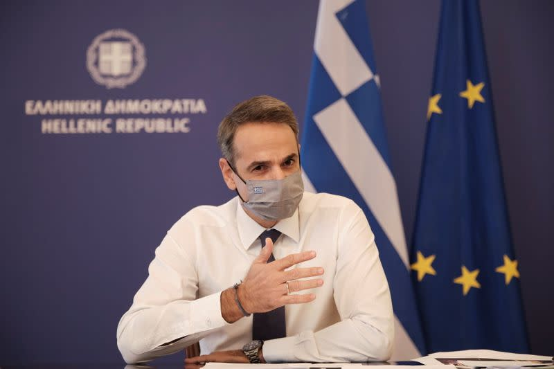 FILE PHOTO: Greek PM Mitsotakis announces nationwide lockdown to prevent the spread of COVID-19