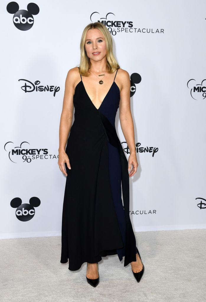<p>Kristen Bell dressed up for Mickey's 90th Spectacular at The Shrine Auditorium on October 6. <em>[Photo: Getty]</em> </p>