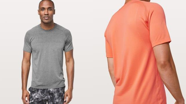 Keep cool on your run with this vented short sleeve.