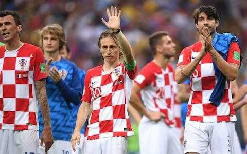 Luka Modric at the final whistle - Credit: Getty Images