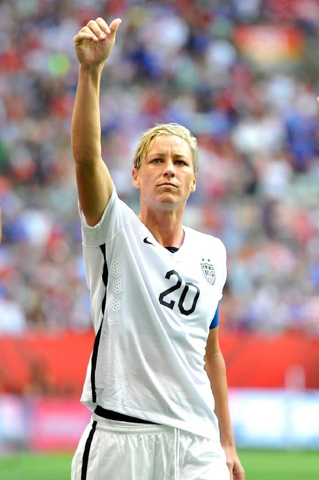 Abby Wambach of the United States has been vocal in her criticism of artificial turf being used in at the Women's World Cup in Canada (AFP Photo/Rich Lam)