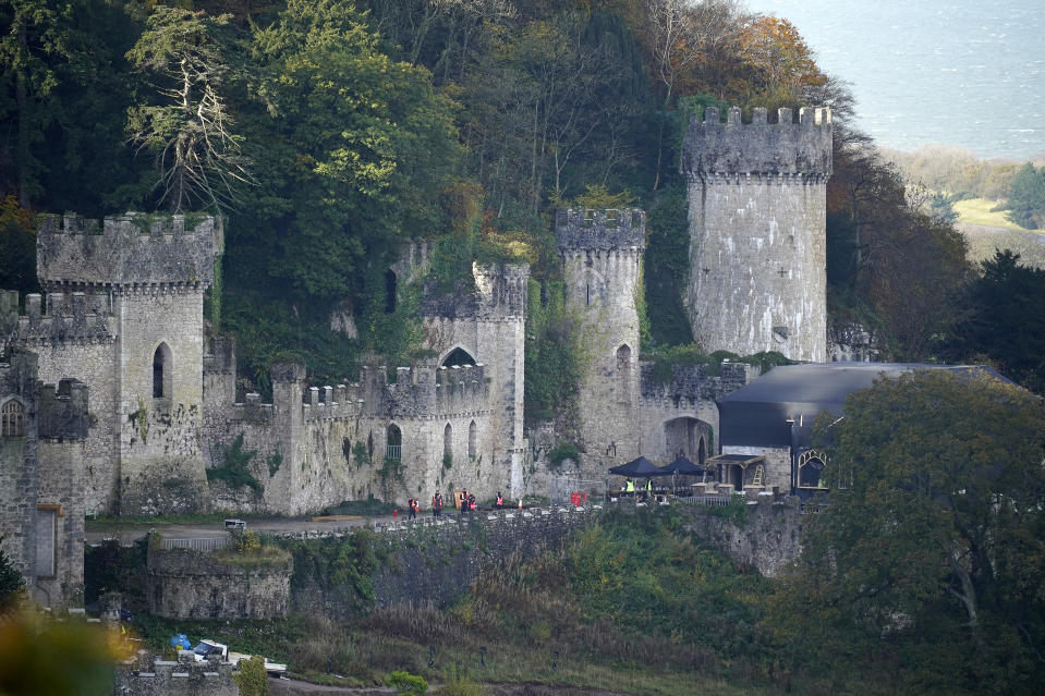 Gwrych Castle is the location of 'I'm A Celebrity' for 2020. (Photo by Christopher Furlong/Getty Images)
