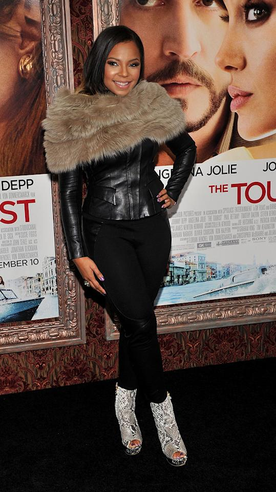 """<a href=""""http://movies.yahoo.com/movie/contributor/1807859589"""">Ashanti</a> attends the New York premiere of <a href=""""http://movies.yahoo.com/movie/1810149482/info"""">The Tourist</a> on December 6, 2010."""