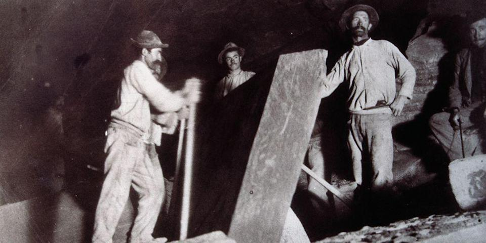 """<p>We take things like heavy-duty construction equipment for granite these days! In the late 19th century, Quarrymen rocked construction sites, mining stone that was used for other <a href=""""http://www.goodhousekeeping.com/home/decorating-ideas/g2088/cheap-decorating-ideas/"""" rel=""""nofollow noopener"""" target=""""_blank"""" data-ylk=""""slk:home-building"""" class=""""link rapid-noclick-resp"""">home-building</a> purposes. </p>"""
