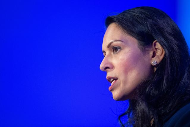 Home secretary Priti Patel as the government presses on with a plan to reduce immigration to fill low-paid jobs. (PA)
