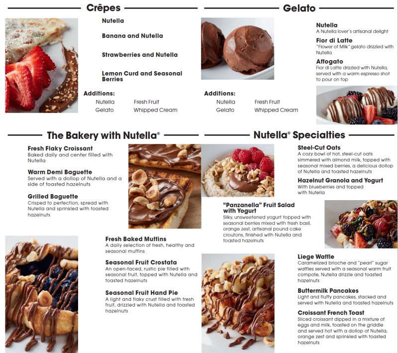 Nutella Cafe Chicago Hours