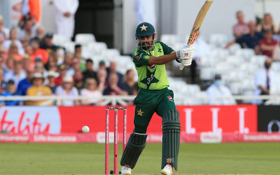 Pakistan's Babar Azam in action during the a T20 cricket match between England and Pakistan - LINDSEY PARNABY/AFP via Getty Images