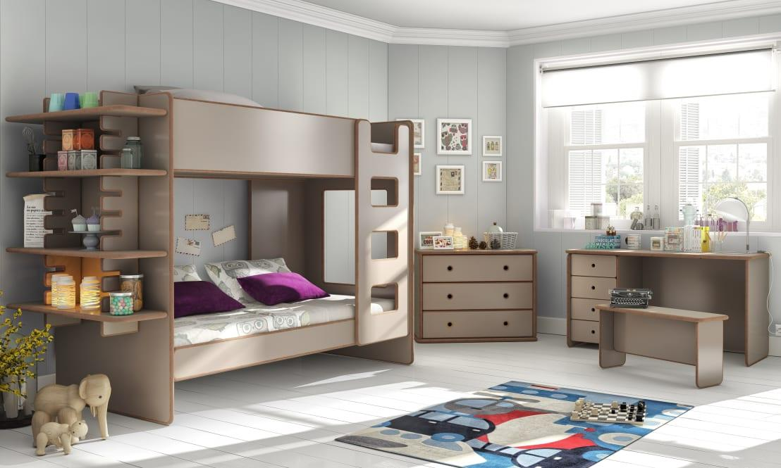 <p>How surprisingly stylish is this bunk bed? We know it sounds silly to say that, but let's be honest; bunk beds aren't the first thing you picture when thinking of elegant furniture, are they? Smooth, muted and generously proportioned this design has totally changed our perception!</p>  Credits: homify / Cuckooland