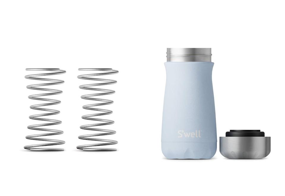 <p>The <span>S'well Blender Spring 2-Pack</span> ($10) turns any bottle into a protein shaker. I was very skeptical that it would blend anything, but I was pleasantly surprised. The slender design of the spring allows it to fit into every reusable bottle I have - including the pictured <span>Skye Traveler</span> ($30) - so I don't have to worry about making sure I have the correct bottle for the spring. </p> <p>Tip: If you're using a S'well bottle, make sure to leave a bit of space under the inner lip when you fill the bottle so everything gets evenly blended.</p>