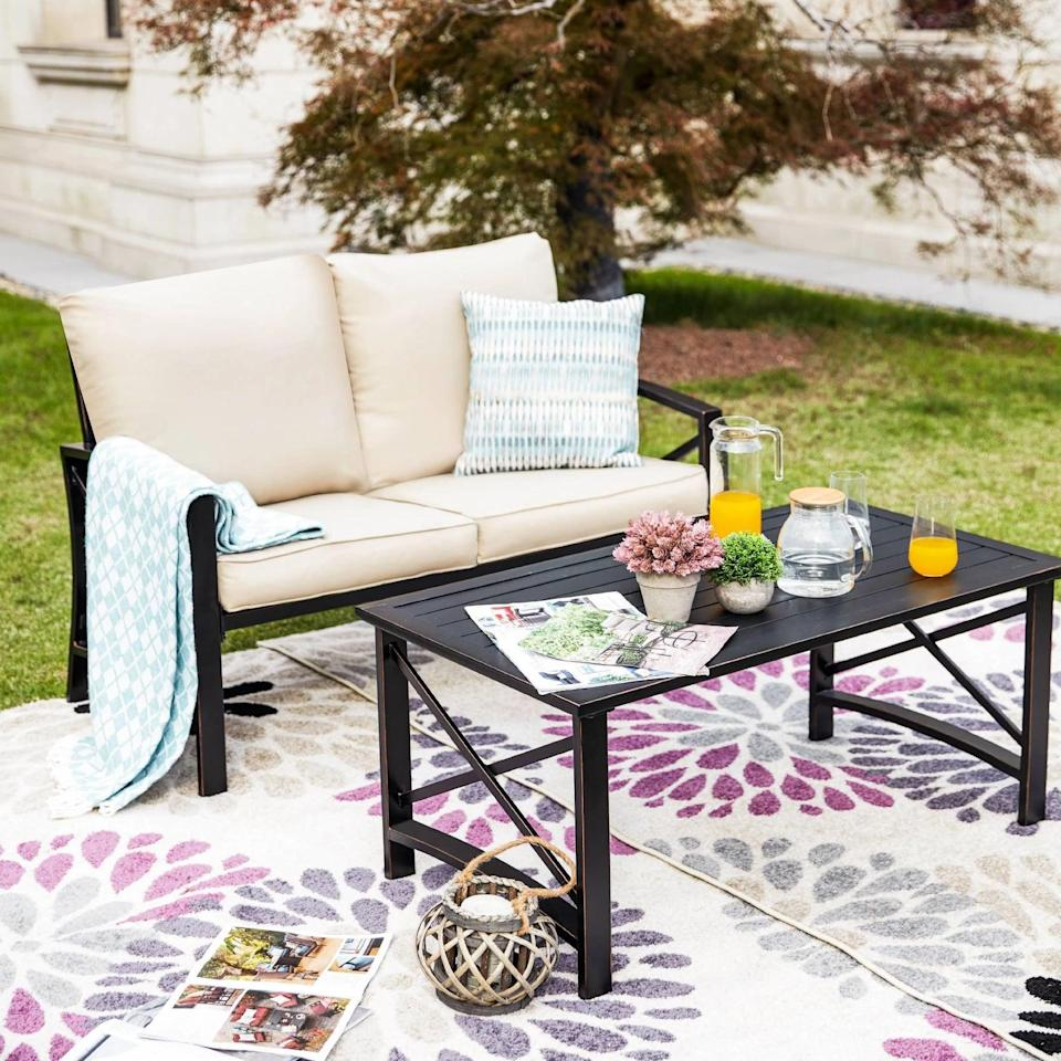<p>Get cozy with a loved one on the <span>Loveseat Patio Seating Set</span> ($417).</p>