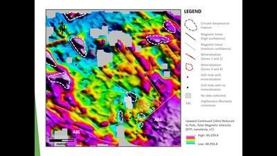 Exhibit 3. Ground Magnetic Data Supporting New Geological Interpretation at Carrickittle Prospect (CNW Group/Group Eleven Resources Corp.)