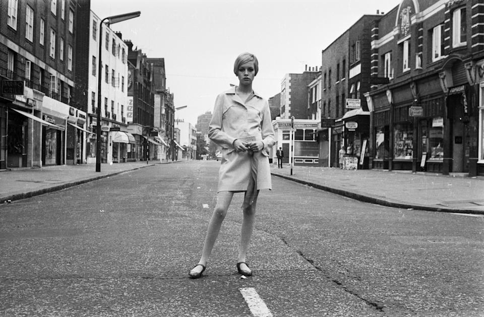Twiggy en 1966 (Photo by Stan Meagher/Express/Getty Images)