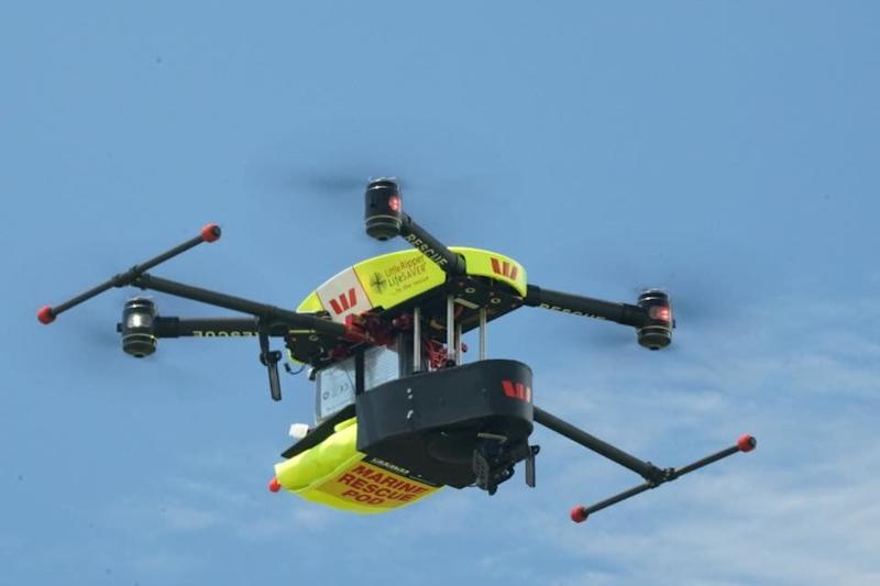 A hero drone manages to rescue two teenage swimmers in choppy surf