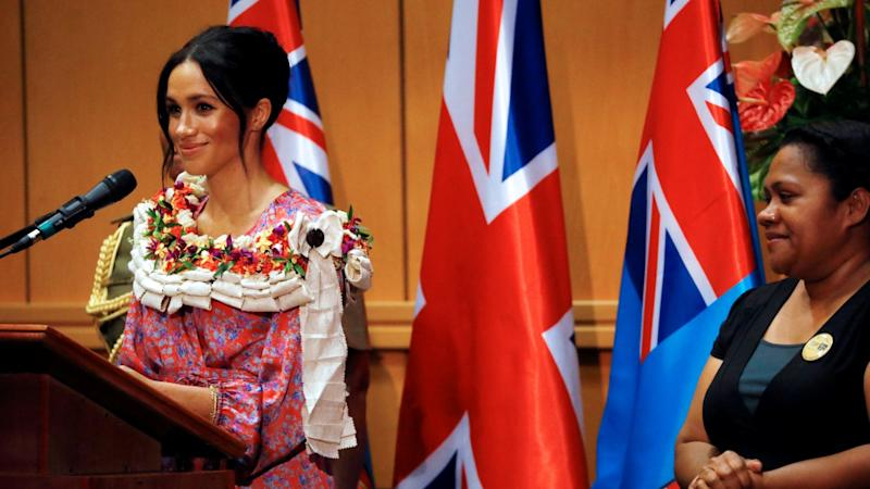 The Duchess of Sussex recounted her days in school when addressing students at the University of the South Pacific.