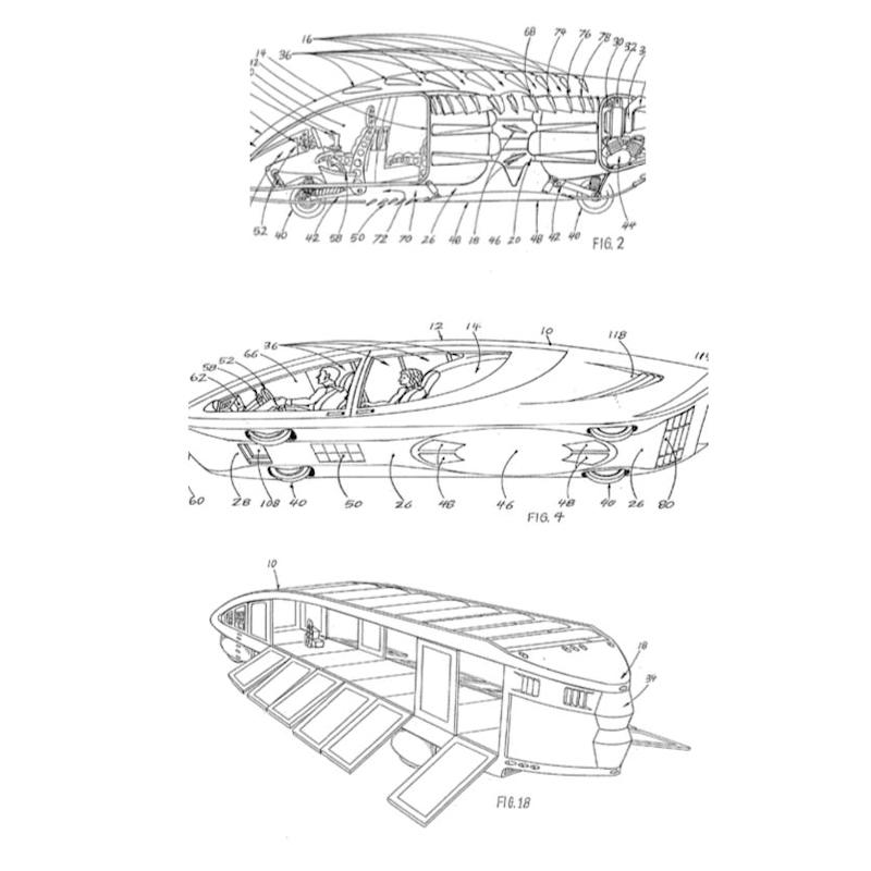 Google Patent Flying cars